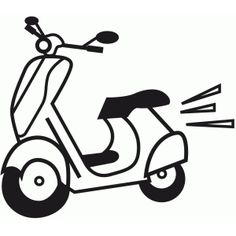 Silhouette Design Store - View Design #86224: moped