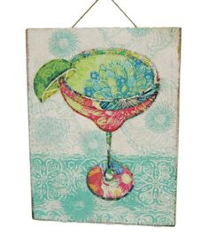 Summer Inspirations Tim Coffey Pink Margarita Cocktail Wall Art at Joann.com just love this for my sunroom!!
