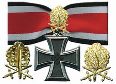 Nazi -1939 Knight's Cross of the Iron Cross with Oak leaves, Swords and Diamonds - Gold
