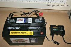 Pop Up Camper Battery Maintenance:  Great tips for charging and maintaining your tent trailer battery.