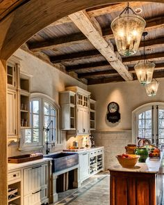 Rustic and elegant kitchen.
