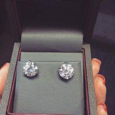 Ritani diamond stud earrings