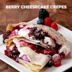 Berry Cheesecake Crepes