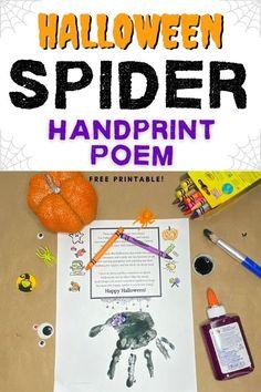 Sweet Halloween Spider Handprint Poem