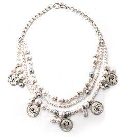 Swarovski Pearl Symphony Necklace Tutorial - Altered Art vintage music charms
