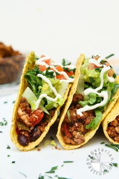 Loaded Black Bean Tofu Tacos with Walnut Crumble #vegan #glutenfree | vegetariangastronomy.com