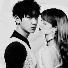 Chanyeol&Lisa (ChanLisa) Chanyeol, Exo, Lisa Bp, Cat Wallpaper, Boy Or Girl, Relationship, Goals, Couples, Ulzzang Couple