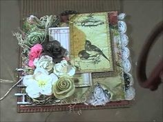 Shabby Chic/Mixed Media Cards Tutorial (Start to finish) - YouTube