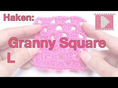 Granny Square (linkshandig) - Leren Haken en Breien - YouTube
