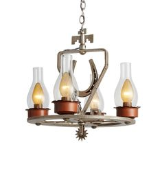 Wrought Style Lucky Horse Shoe Chandelier