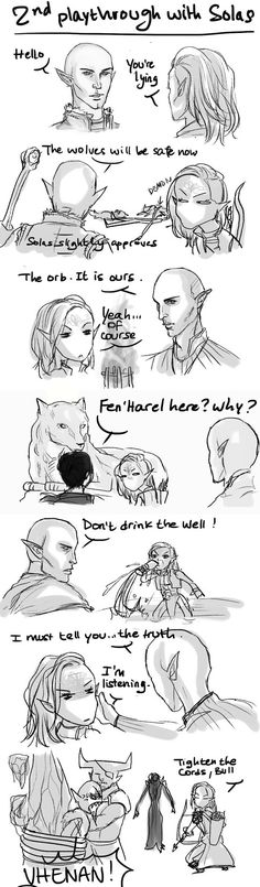 DAI - Solas 2nd playthrough by K-yon. Too true. Every time I talk to Solas and Blackwall I yell about their lies. My family is concerned about me, I'm concerned about their lies...there's a lot of concern.