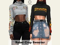 The Sims 4 Rebel Crop Sweater
