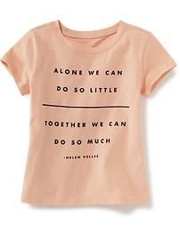 Alone We Can Do So Little Quote Tee for Baby