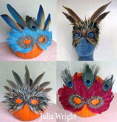 Feather masks by Julia Wright Feather Mask, Masks, Artist, Blog, Beautiful, Jewelry, Jewellery Making, Artists, Jewelery