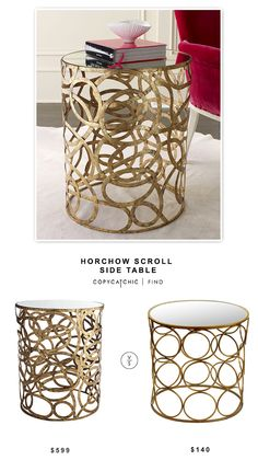 @horchow Scroll Side Table $599 vs @wayfair Winward Designs End Table $140