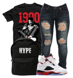 """Hype 90's"" by jaziscomplex on Polyvore featuring ASAP and Jordan Brand"