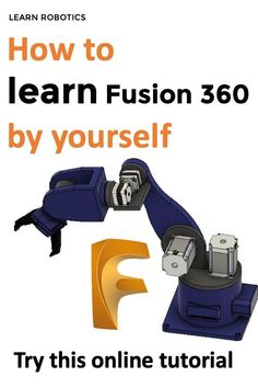 In this Fusion 360 Tutorial, learn how to model the base of a robot arm. Fusion 360 tutorial for robotics will take you through the basics to get started. Cnc, Useful 3d Prints, 3d Printer Projects, Pi Projects, Learn Robotics, 360 Design, 3d Printing Diy, 3d Printed Objects, Robot Arm