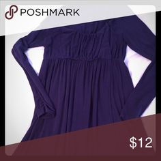 LA Made purple long sleeve maternity dress Super soft modal cotton long-sleeved dress, very similar to first picture. Gathering details and wrap front- very flattering. Hits above the knee. Color is a deep purplish-blue, from Stitch Fix! Dresses Long Sleeve