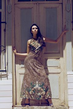 Back to the jungle with this #cheetah inspired gown.