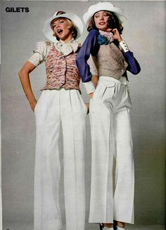 1970s White Trousers