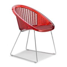 Pair of Saint Tropez Chair, Translucent Red