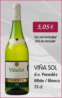 Viña Sol - 75 Cl. (White wine with D.O. Penedés) www.vinoole.com