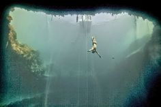 Long Island, Bahamas is home to Dean's Blue Hole The world's deepest recorded inland blue hole, and the world's second largest underwater cavern - Freediving at Deans Blue Hole - Photo Credit: Flickr