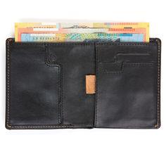 Bellroy Note Sleeve Slim Leather Wallet, Black