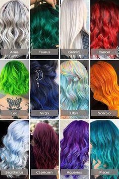 Zodiac Signs Animals, Zodiac Signs Chart, Zodiac Signs Sagittarius, Zodiac Sign Traits, Zodiac Signs Colors, Sagittarius Girl, Hair Dye Colors, Cool Hair Color, Zodiac Signs Pictures