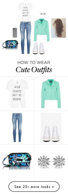 """Casual and Cute DAily Outfit"" by emenz22 on Polyvore featuring Converse, McQ by Alexander McQueen, Vera Bradley, STELLA McCARTNEY, Kate Spade, Kenneth Jay Lane, Zoe Karssen, women's clothing, women and female"