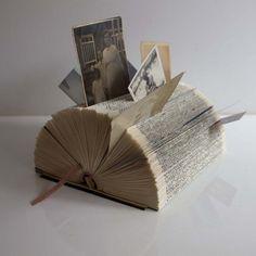 Folded Book Art – Desk Organiser