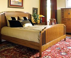 bedrooms - since Pasadena is known for the Craftsman style Feddes offers a line of Stickly and other mission style furniture.