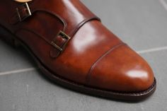 museum calf.brown monk shoes - Google Search