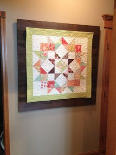 Layer a quilt on barn wood to really make the quilt pop! Moda Love Charm Quilt using Fig Tree & Co. Somerset line. Barn wood backdrop for quilt.  Barn wood frame.