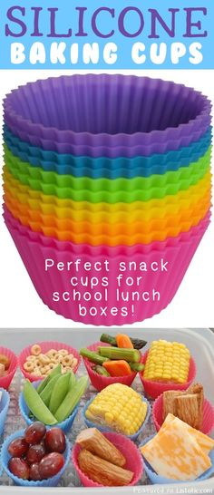 I use these all the time!! Perfect snack dividers for school lunch. // 21 Totally Appropriate Silicone Inventions