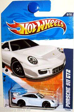 Porsche 911 GT2 Hot Wheels 2011 NIGHTBURNERZ #9/10 White