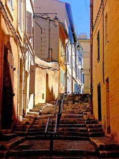 Located just above the Vieux Port, is the old quarter of Marseilles, Le Panier France City, Ville France, South Of France, Provence, Monuments, Places Around The World, Around The Worlds, Belle Villa, Rhone