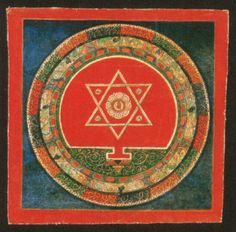 Sacred geometry is  recurring motif in many religions. This page explores the sacred geometry in the art of Buddhist cultures in the Himalayas.  http://tricycle.org/trikedaily/himalayan-buddhist-art-101-sacred-geometry-part-1/