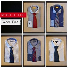 Amanda Christensen Tie: $95, Gotstyle Dress Shirt: $165, Braemore Tie $95. Without Prejudice Woven Printed Shirt: $225, Braemore Tie: $95, Suit Clinic Shirt with Contrast Collar and Cuff: $130, Braemore Tie: $95, Blue Industry Birdseye Textured Shirt: $140, Altea Tie: $95, Suit Clinic Oxford Shirt: $120,