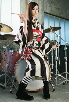 Gomen gomen for a late birthday post!!Demo, i have always looked up on to you Rina-chan =3!! The best female drummer i know so far!!I'm gonna post some of her latest photobook scans!! <3 Jaa, enjoy~ (^_^v)