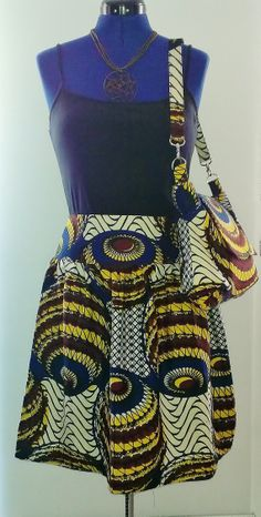 African Print/Ankara Gathered Skirt by Louvoshine on Etsy Love African prints! Not sure why