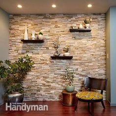 Create a Faux Stone Accent Wall | The Family Handyman