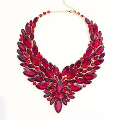 Ruby Feather Necklace