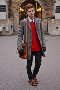 Winter outfit for men. Look de invierno para hombres. Pour homme https://www.facebook.com/bagatelleoficial Bagatelle Marta Esparza  #winter #man #outfit