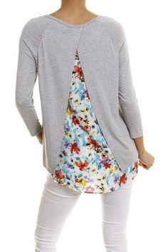 Mixed media shirt - Sassy Posh - 2see our huge selection at sassyposh.com and get free shipping with promo code freeship