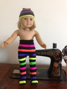 Rainbow Party Favors, Striped Tights, Neon Rainbow, Girl Dolls, American Girl, Trending Outfits, Unique Jewelry, Handmade Gifts, Fitness