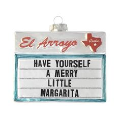 ORDERS FOR THIS SPECIFIC ORNAMENT WILL SHIP END OF NOVEMBER / BEGINNING OF DECEMBER. If you would like the rest of your order to ship first, please choose the split cart option at checkout. Just put out the holiday decorations now and let's wrap this f***ing year up. Our new El Arroyo sign ornaments will go quick so we
