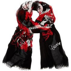 DIANE VON FURSTENBERG Hanovar Modal Printed Scarf (£105) ❤ liked on Polyvore featuring accessories, scarves, graffiti red scarf, print scarves, red shawl, diane von furstenberg, red scarves and diane von furstenberg scarves