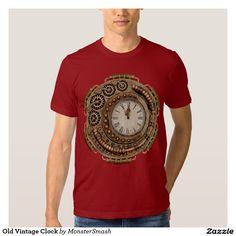 Old Vintage Clock Tee Shirt