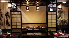 Tavolo giapponese ~ Linterno del ristorante take sushi a viale trastevere roma
